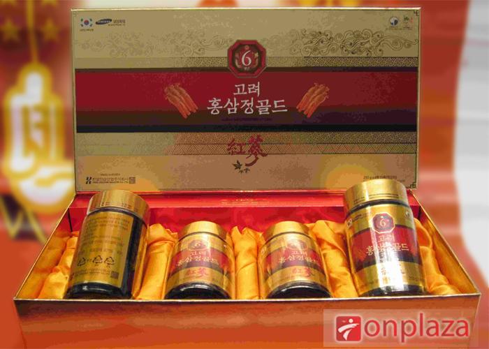 Cao hồng sâm hanil Hàn Quốc hộp 4 lọ – tinh chất từ 100 % hồng sâm tự nhiên