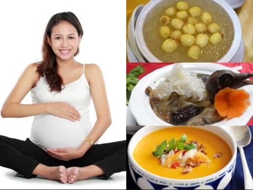 Bà bầu ăn yến sào rất tốt cho sự phát triển của thai nhi