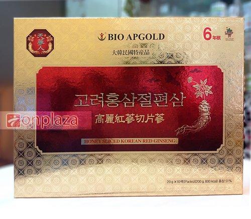 Hồng sâm thái lát tẩm mật ong Hàn Quốc Bio có những công dụng gì?